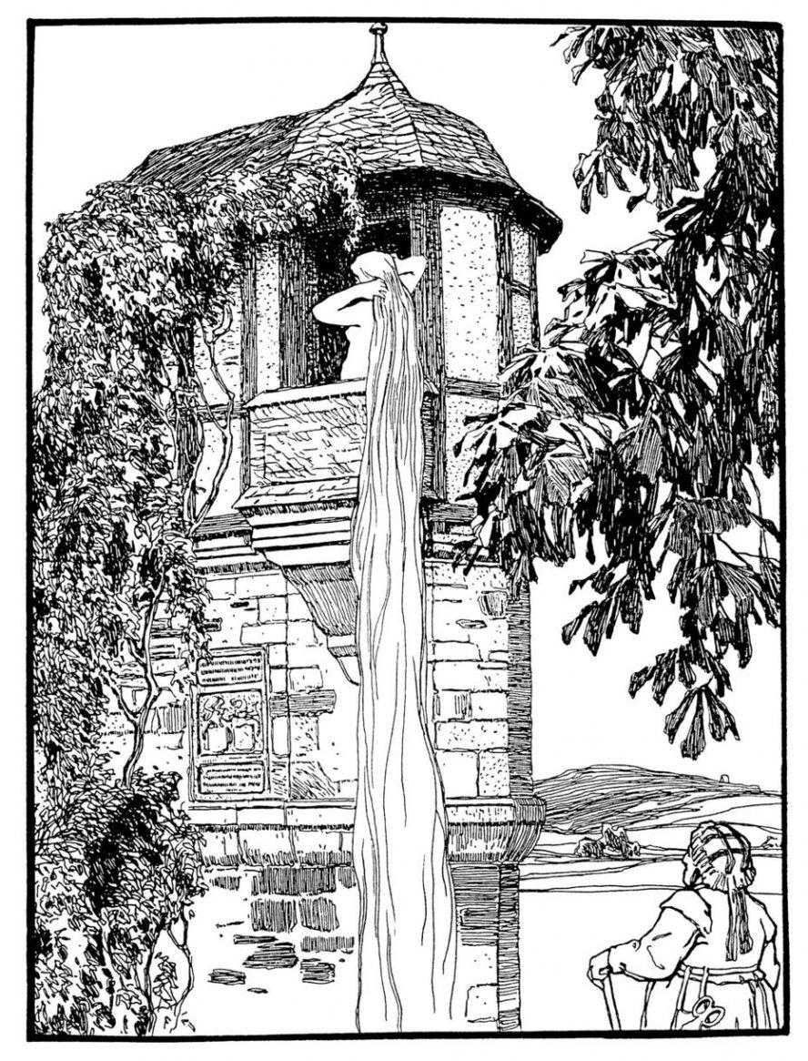 Die Motivvorlagen für seine Märchenillustrationen fand Otto Ubbelohde in Hessen: Wie hier in Wetter Amönau, die Vorlage für Ubbelohdes Rapunzelturm. (Foto: Landkreis)