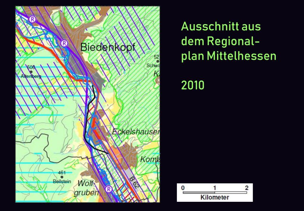 Landkarte mit eingezeichneter Umgehung