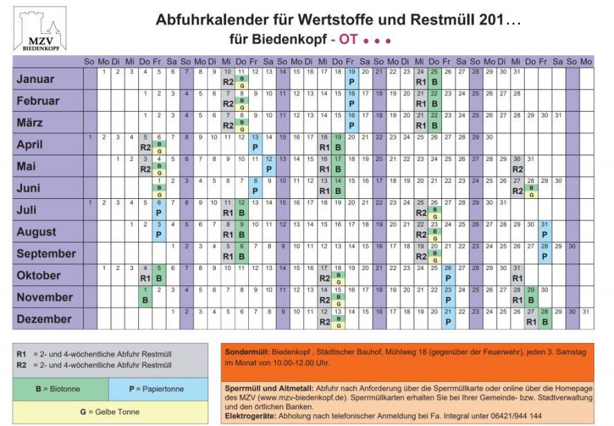 müllabfuhr kalender 2020 hildesheim