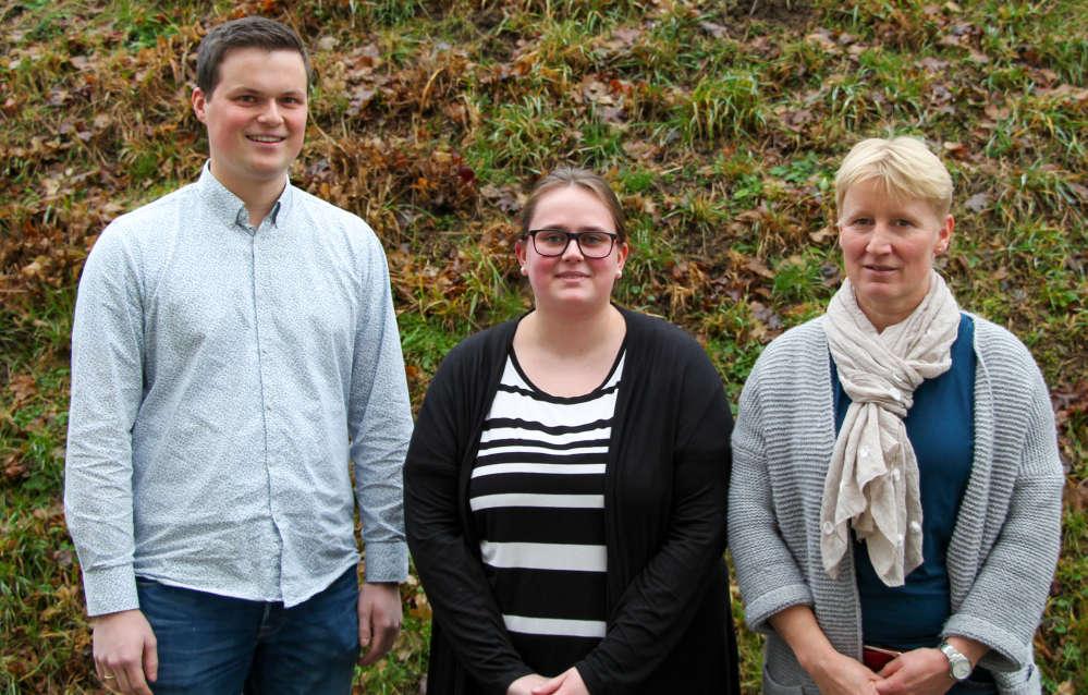 Mann, 2 Frauen. Gruppenbild. Heiner Schreiber, Ann-Christin Wickel, Katja Menzenbach.