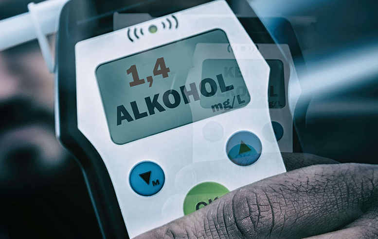 Alkotest zeigt 1,4 Promille an