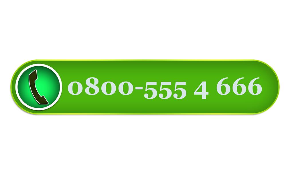 Ein Telefonbutton mit der Nummer 0800-555 4 666