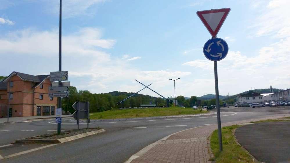 Kreisverkehr in Friedensdorf
