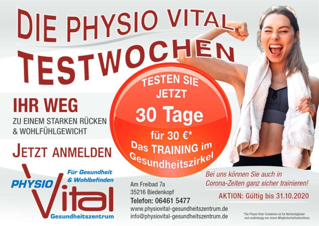 Werbeelement für PhysioVital