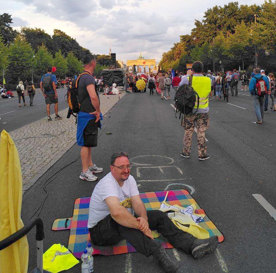 Demoteilnehmer im Berlin.