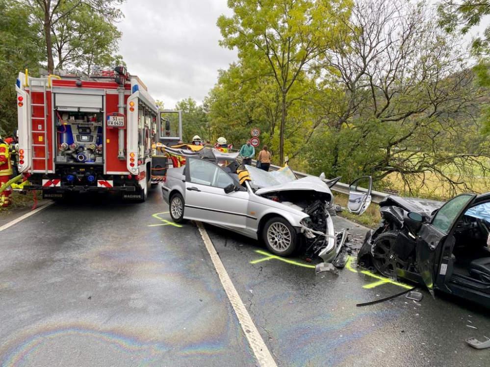 Unfallgeschehen auf der Bundesstraße