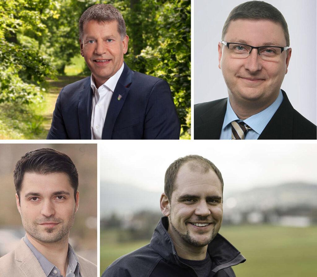4 Bürgermeisterkandidaten als Collage.