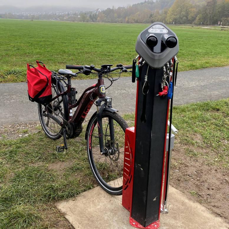 Fahrradservicestation Rückseite