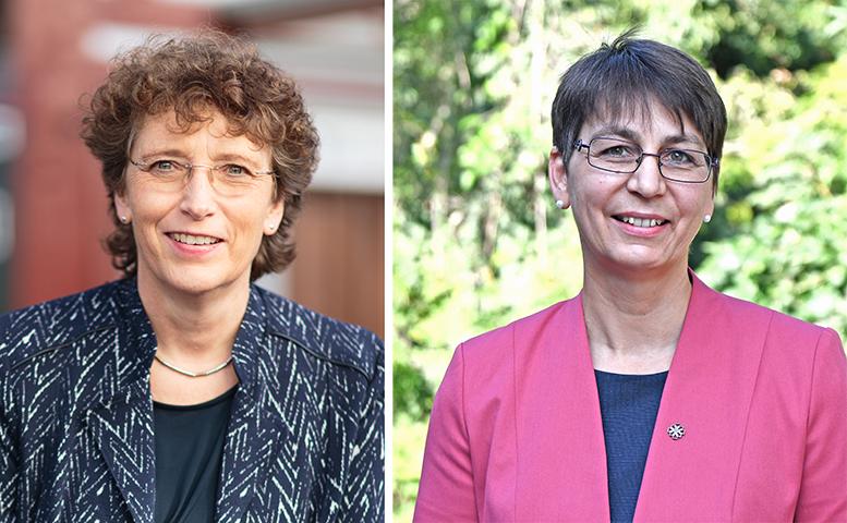 2 Porträts von Damen um die 50
