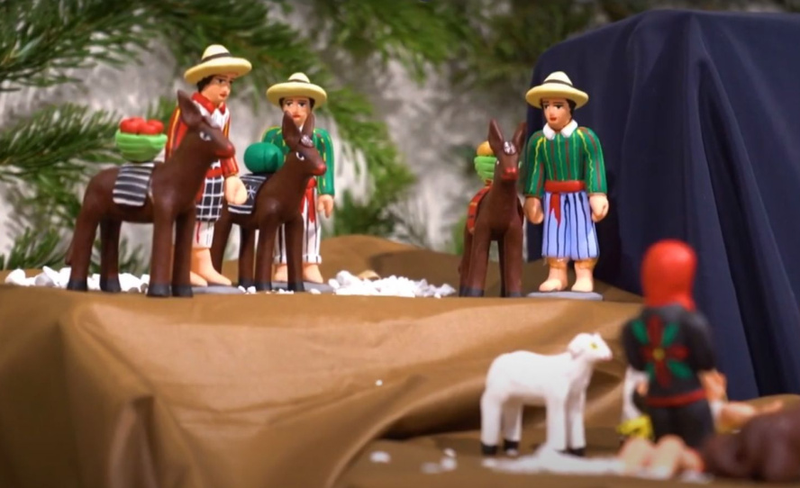 Krippenfiguren in mexikanischem Stil