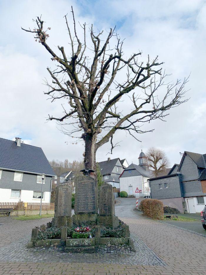 Denkmal mit Eiche