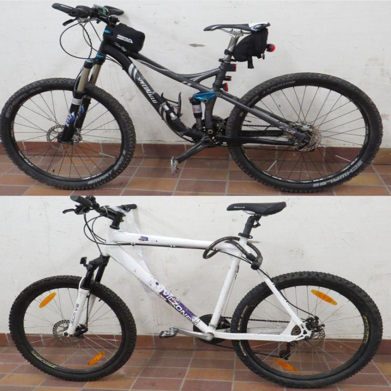 2 Fahrräder seitlich dargestellt