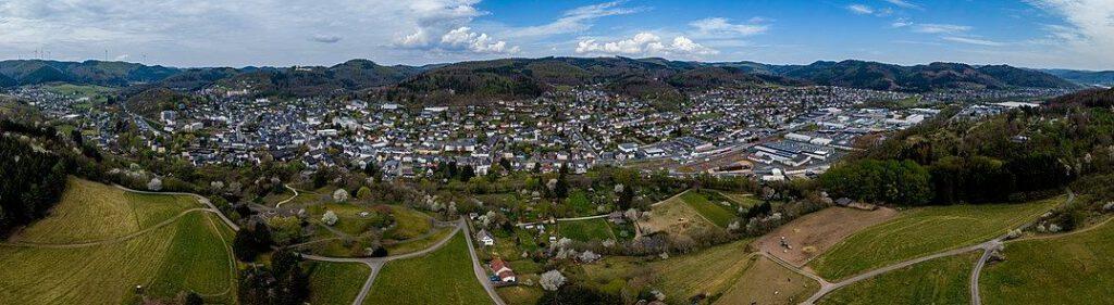 Panoramaaufnahme von Bad Laasphe