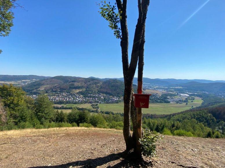 Blick vom Endenberg über das Tal