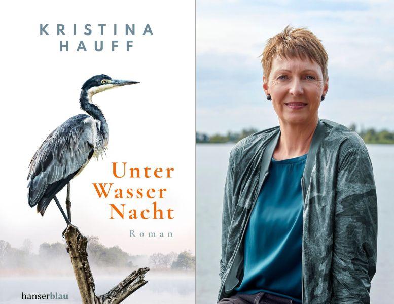 Buchcover und rechts ein Porträt der Autorin