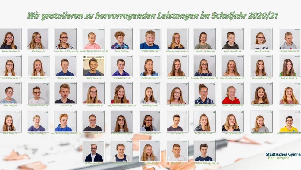 Collage aus Schülerbildern