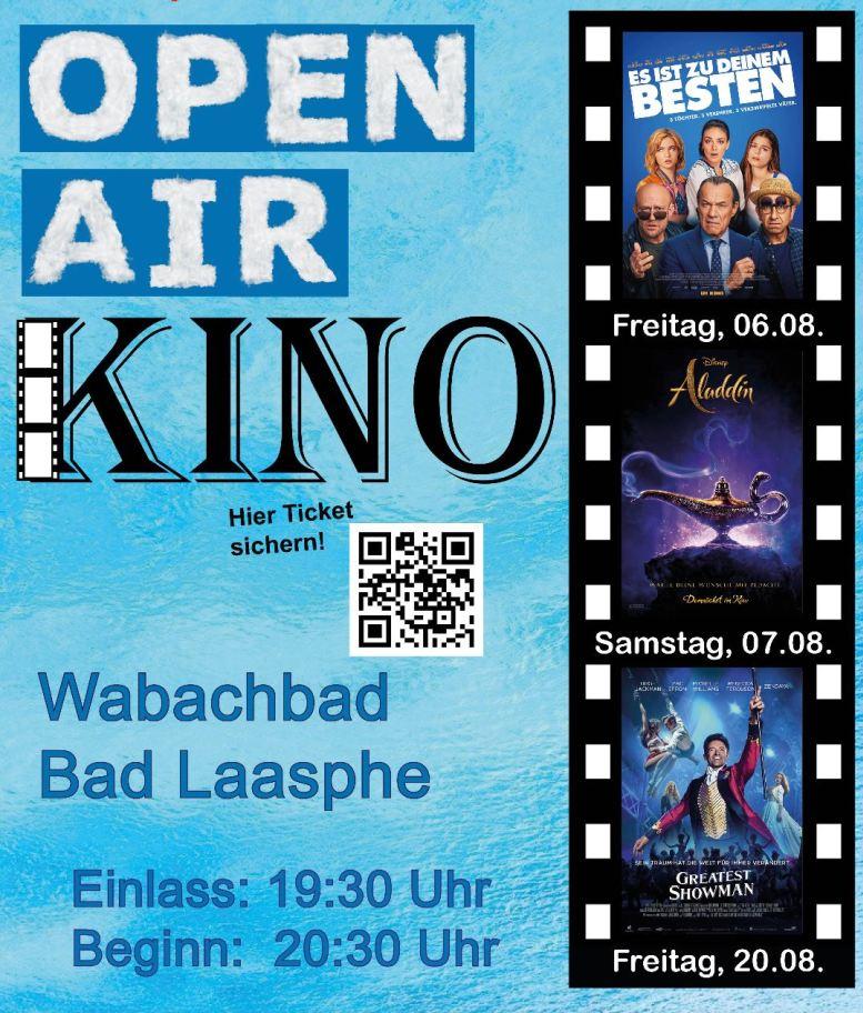 Kinoplakat mit 3 Film-Ankündigungen