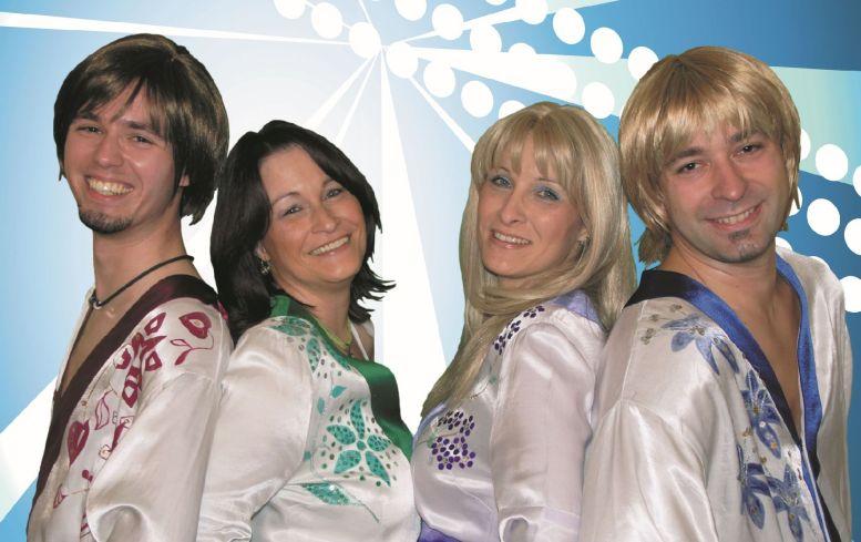 ABBA-Revival Band. 4 Leute.