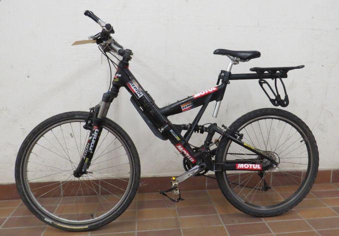 Ein Fahrrad im Keller
