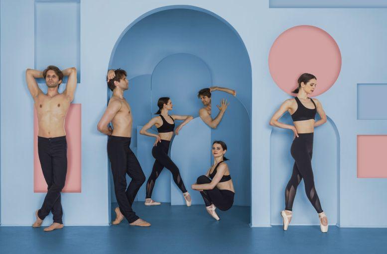 Sechsköpfige Tanzgruppe auf der Bühne
